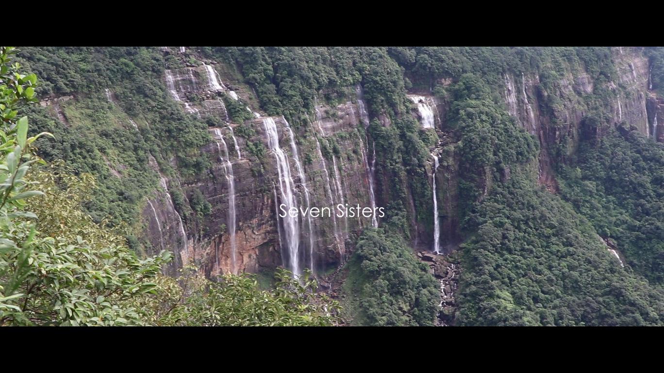 7 sisters waterfalls Cherapunjee, Megahalaya