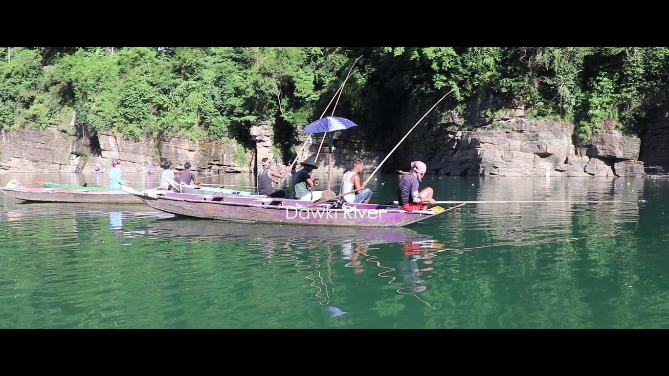 Travel Places India - Dawki River Indi Bangladesh Border